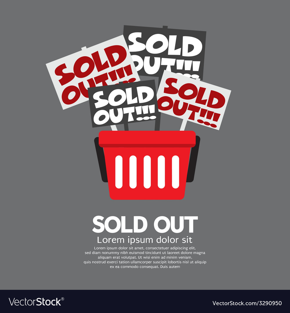 Sold out shopping concept vector   Price: 1 Credit (USD $1)