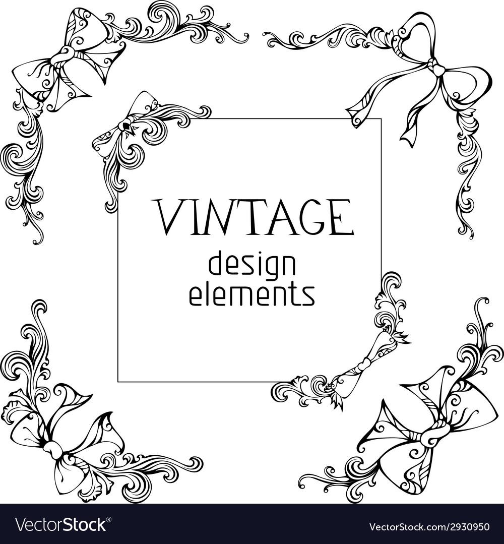 Vintage angles designs vector | Price: 1 Credit (USD $1)