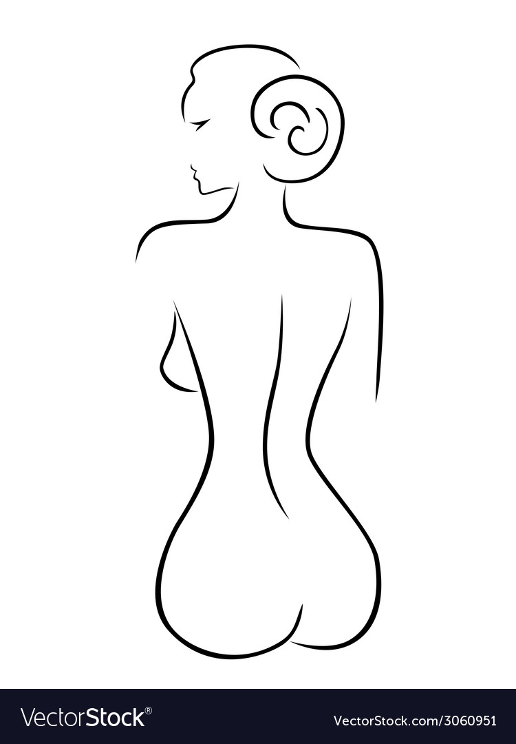 Abstract sexy woman sitting back vector   Price: 1 Credit (USD $1)