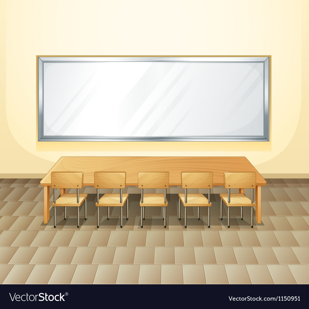An empty meeting room vector | Price: 1 Credit (USD $1)