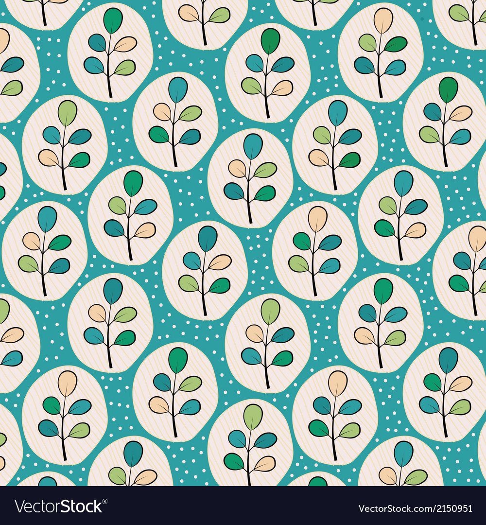 Floral leaves pattern vector | Price: 1 Credit (USD $1)