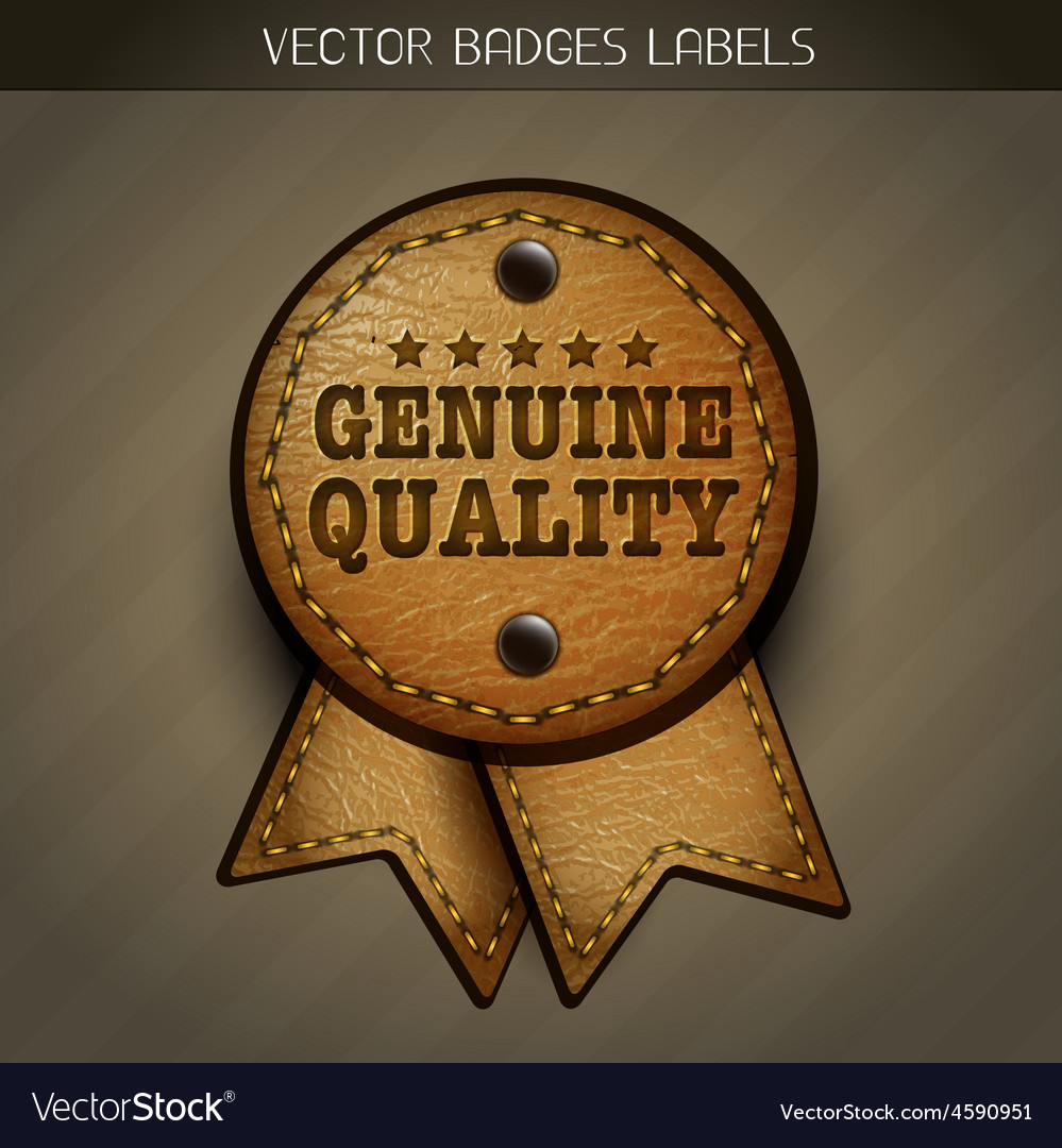 Genuine leather label vector | Price: 1 Credit (USD $1)