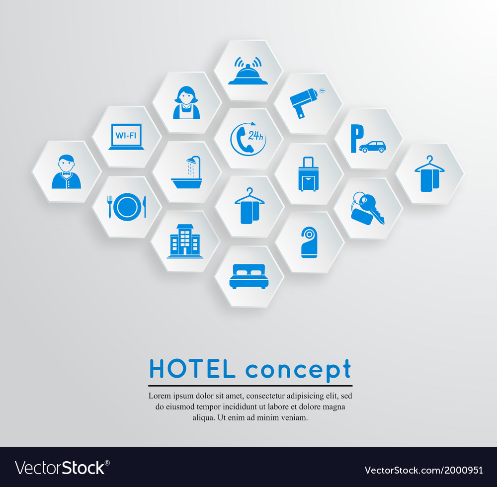 Hotel travel accommodation emblem vector | Price: 1 Credit (USD $1)