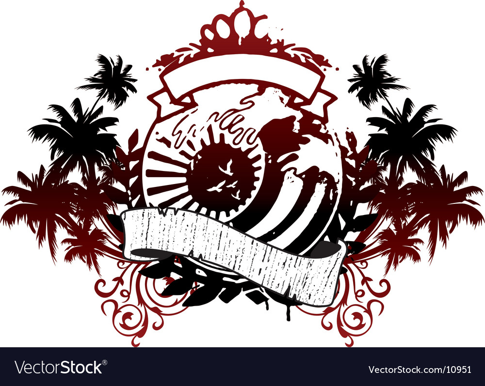Japan palms emblem vector | Price: 1 Credit (USD $1)