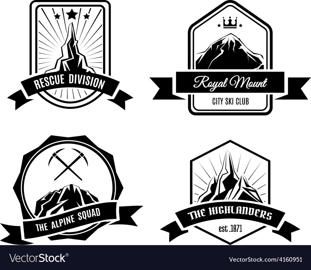 Mountain badges vector | Price: 1 Credit (USD $1)
