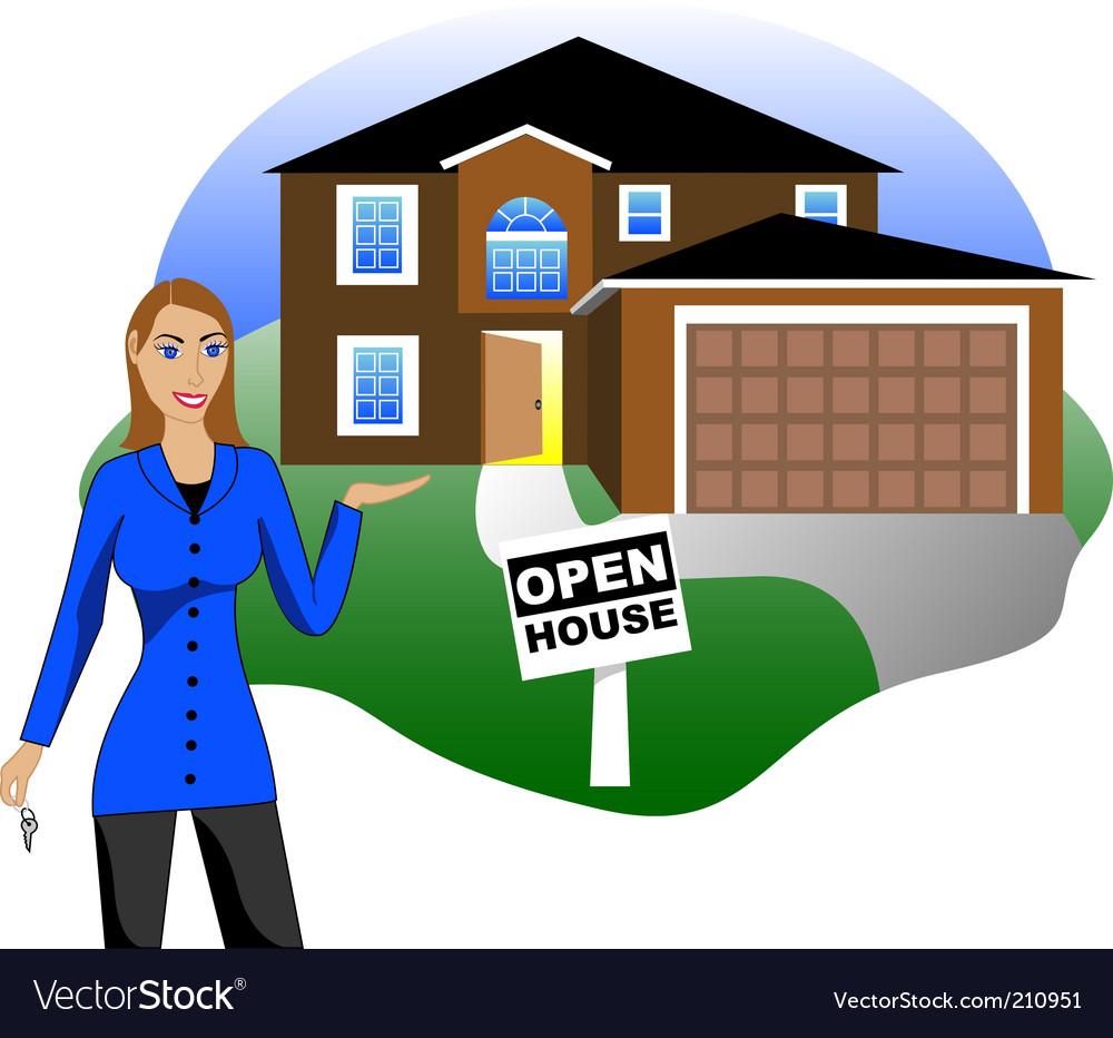 Real estate open house vector | Price: 1 Credit (USD $1)