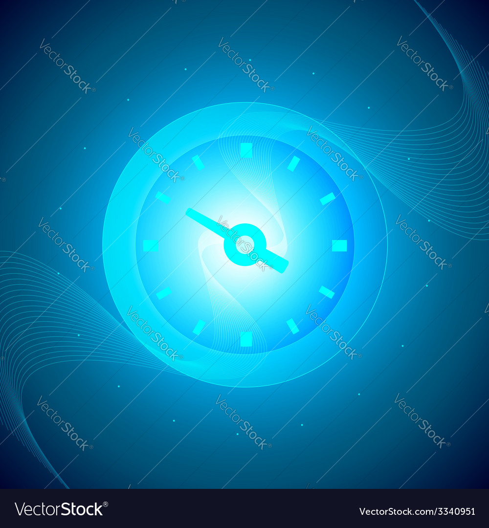 Time and tech circle background vector | Price: 1 Credit (USD $1)