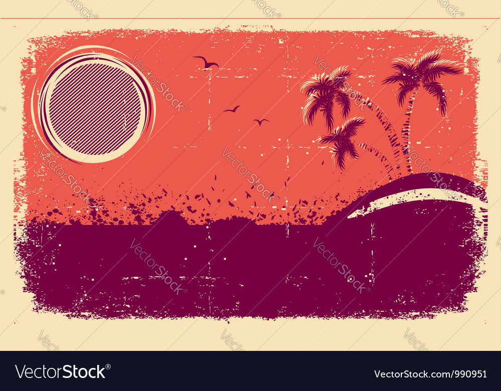 Tropical backgroundabstract grunge vector | Price: 1 Credit (USD $1)