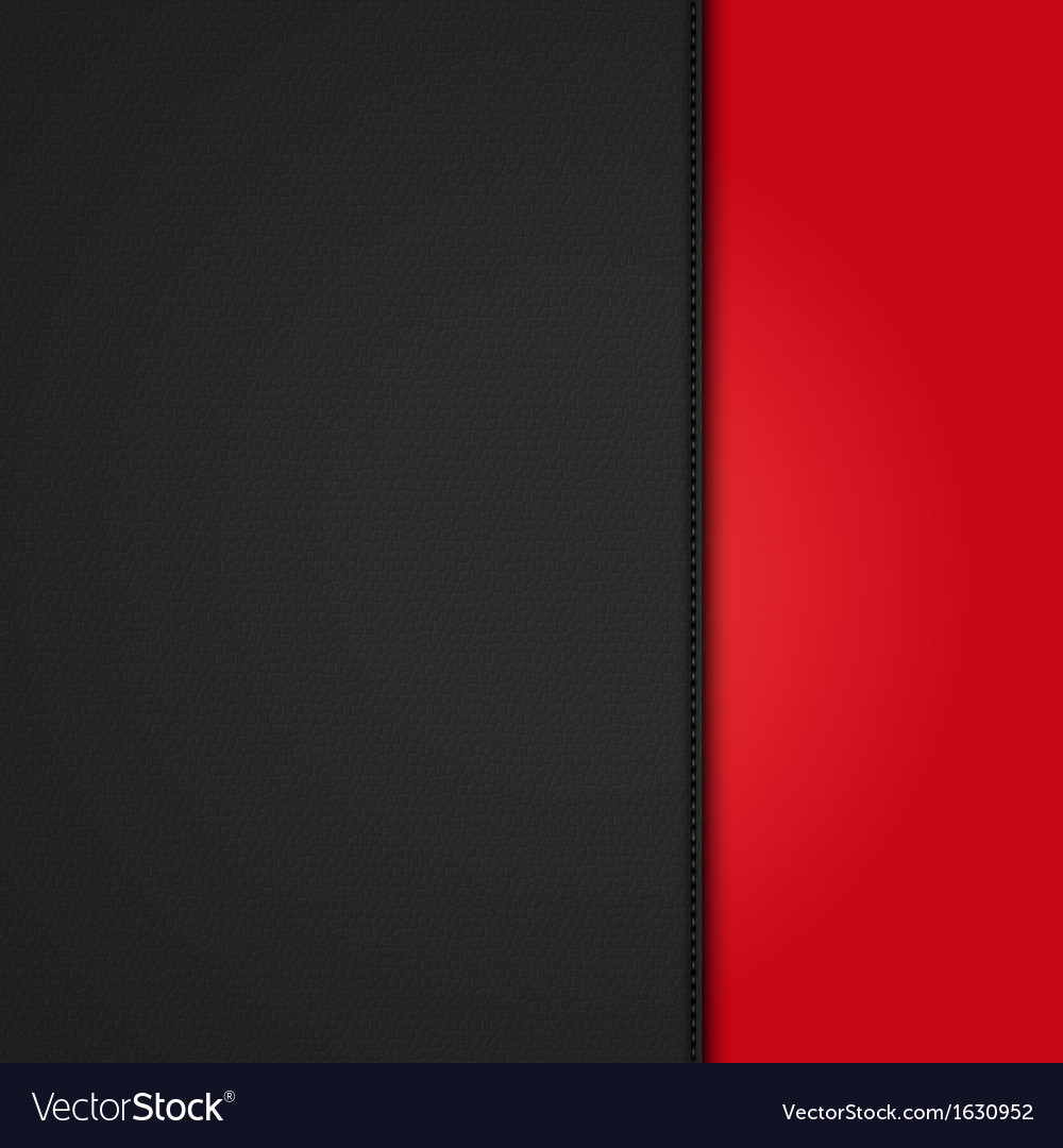 Black leather background panel on red vector | Price: 1 Credit (USD $1)