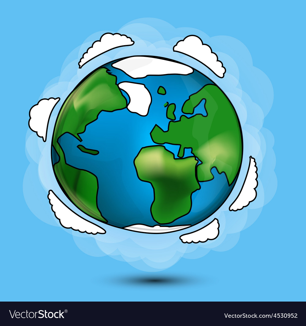 Cartoon globe vector | Price: 1 Credit (USD $1)