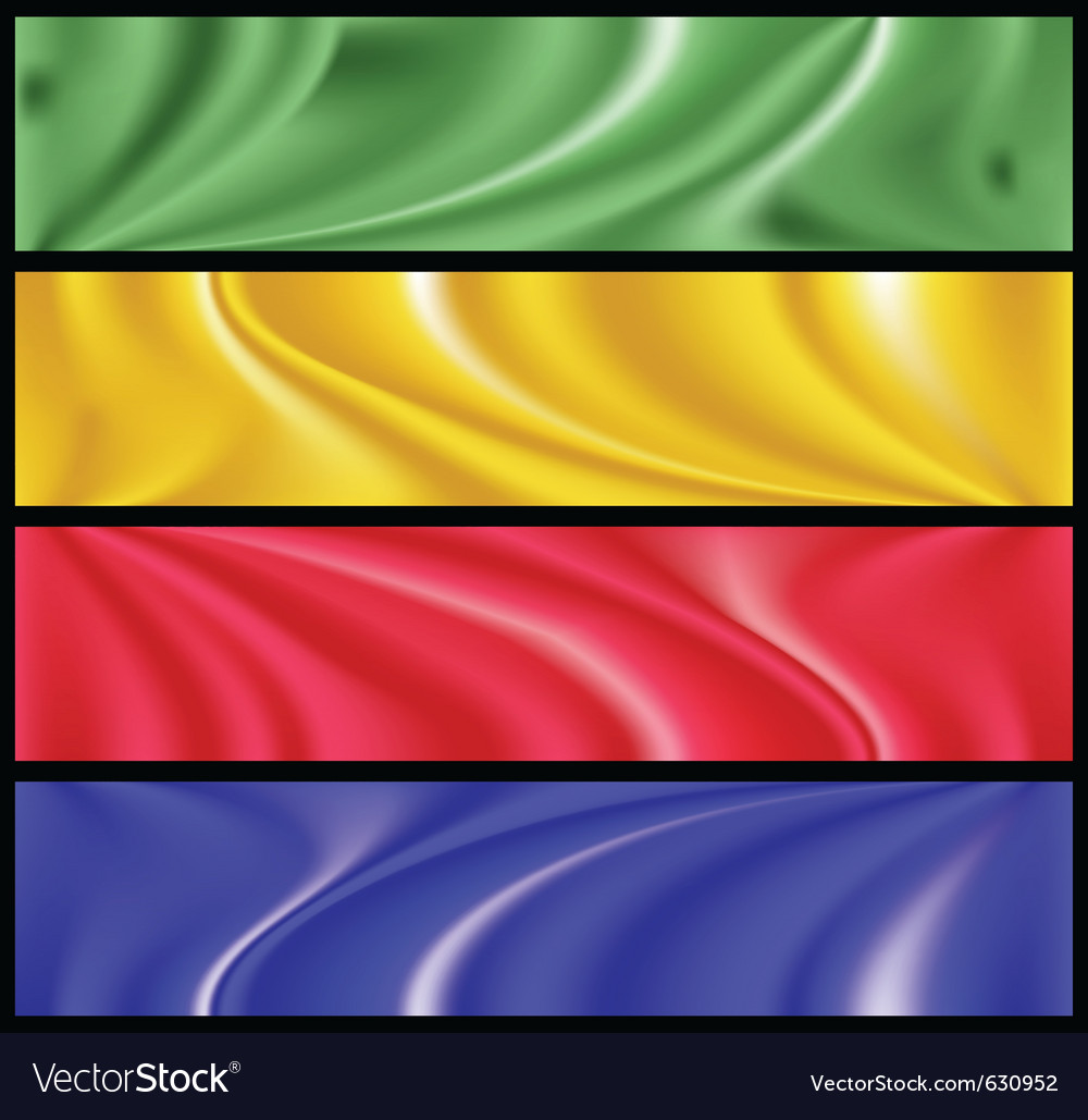 Colorful modern banner set vector | Price: 1 Credit (USD $1)