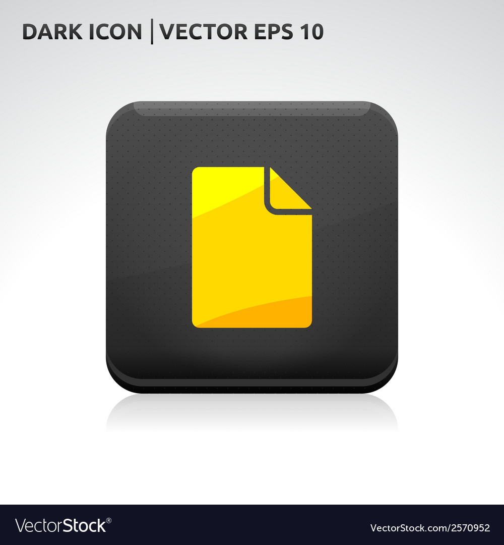 File icon gold vector | Price: 1 Credit (USD $1)