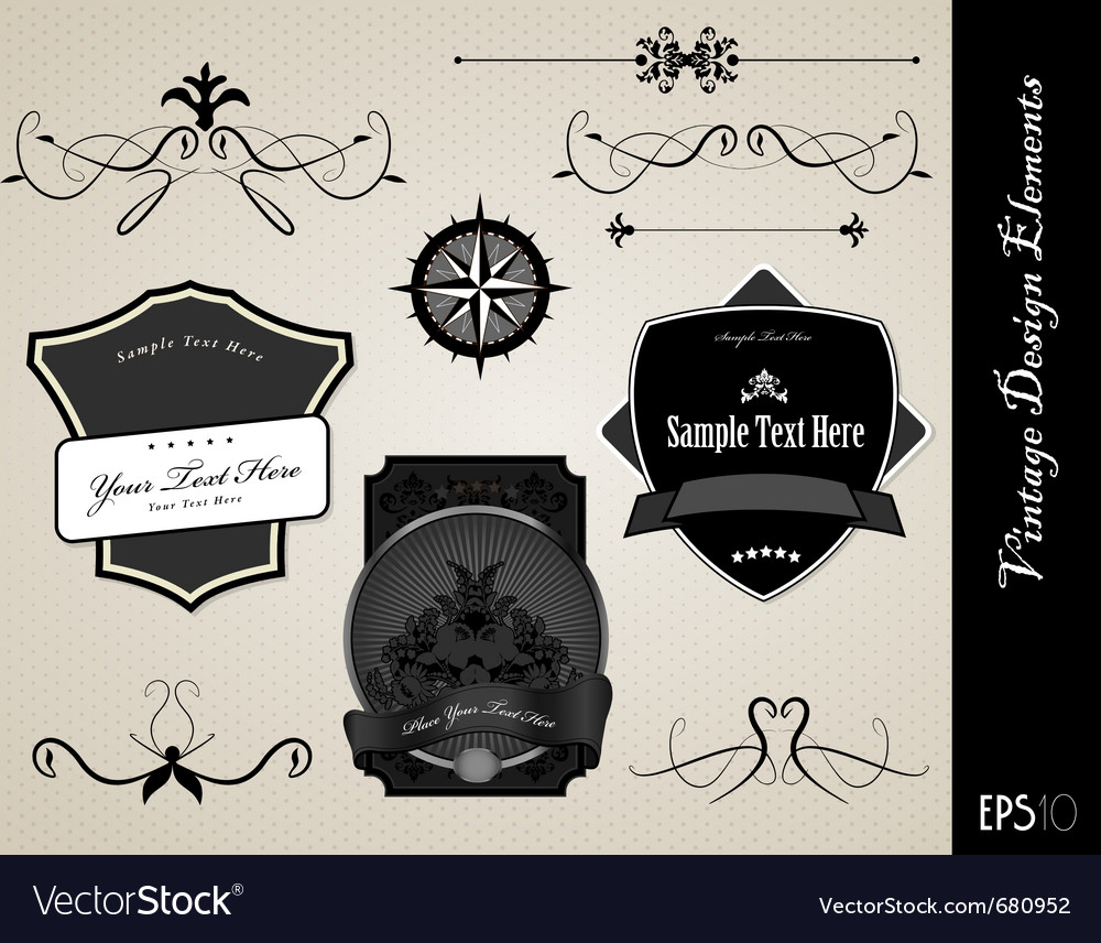 Ornate labels vector | Price: 1 Credit (USD $1)