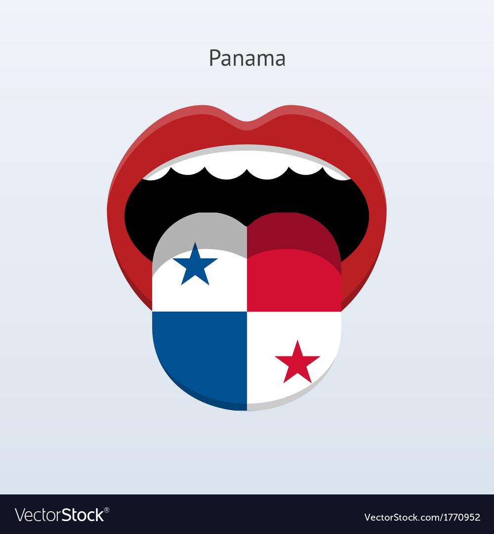 Panama language abstract human tongue vector | Price: 1 Credit (USD $1)