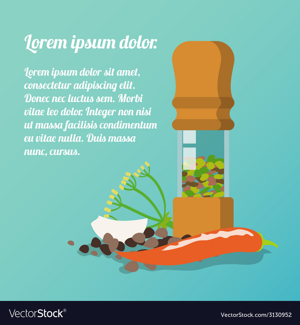 Pepper mill poster vector | Price: 1 Credit (USD $1)