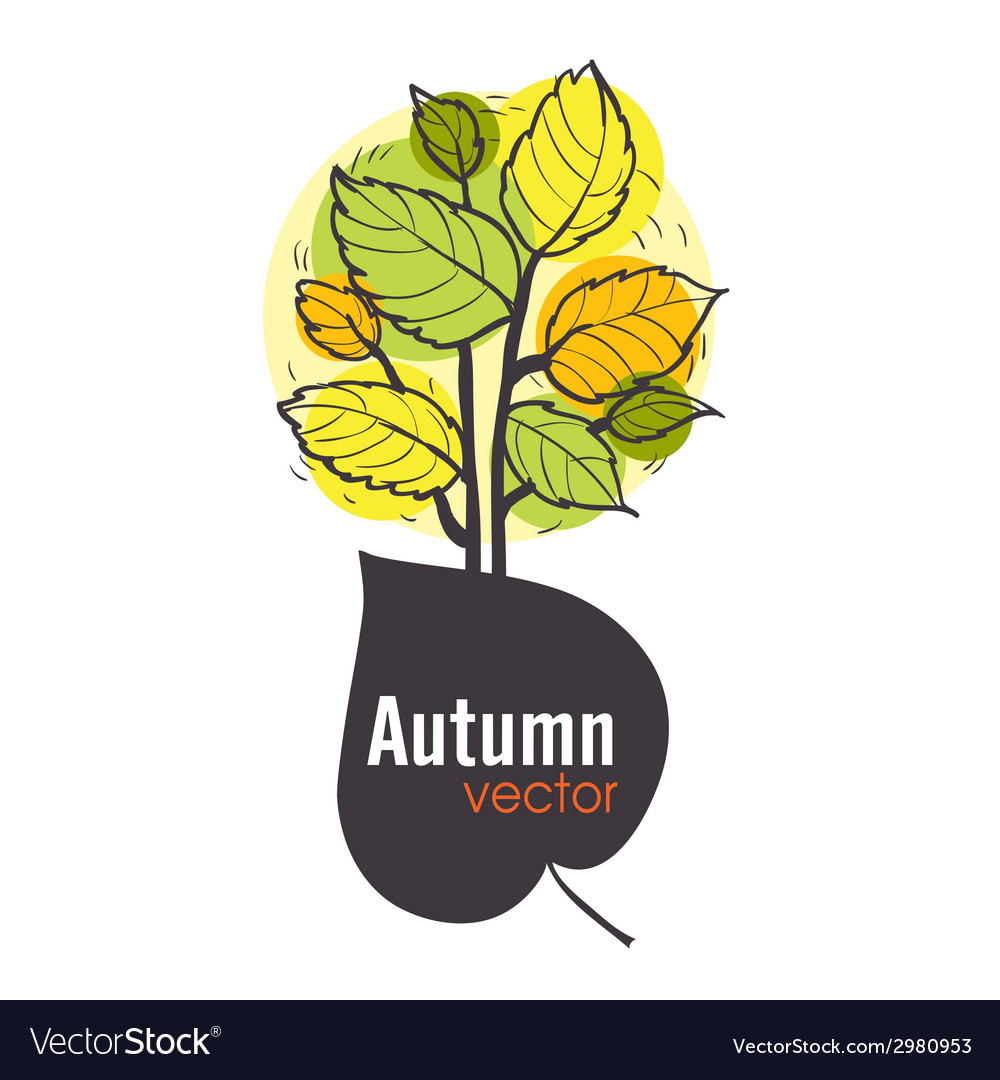 Autumn tree background vector | Price: 1 Credit (USD $1)