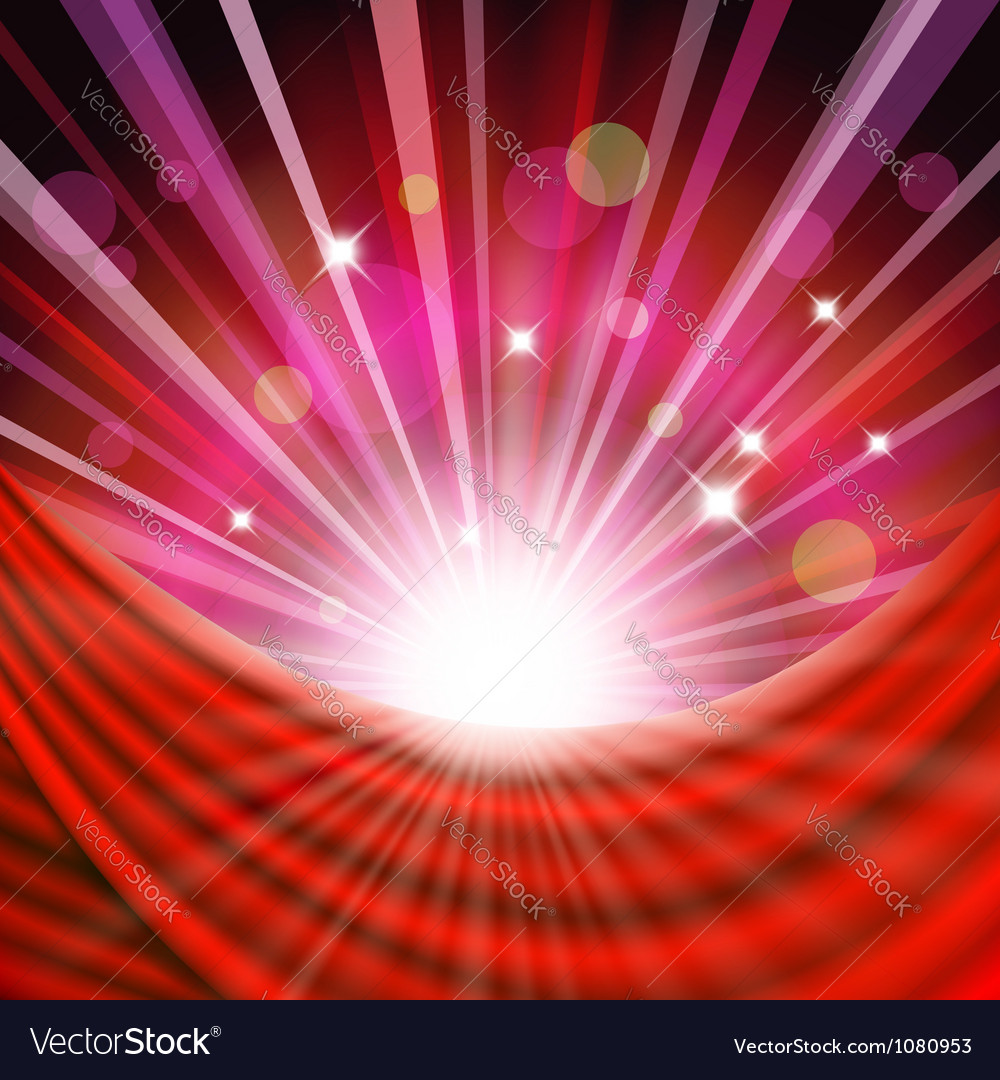 Background with red curtain vector | Price: 1 Credit (USD $1)