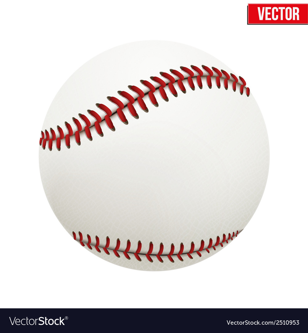 Baseball leather ball vector | Price: 1 Credit (USD $1)