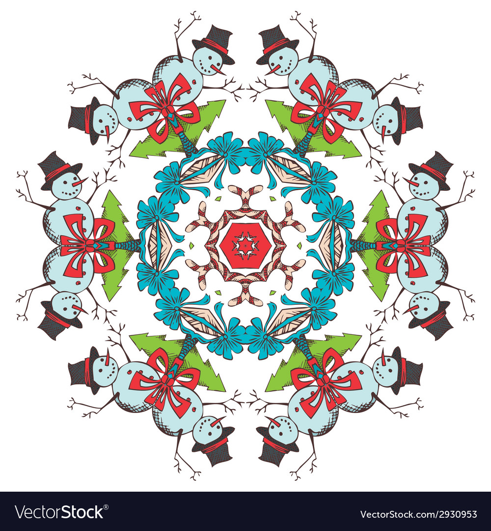 Christmas festive snowflake vector | Price: 1 Credit (USD $1)