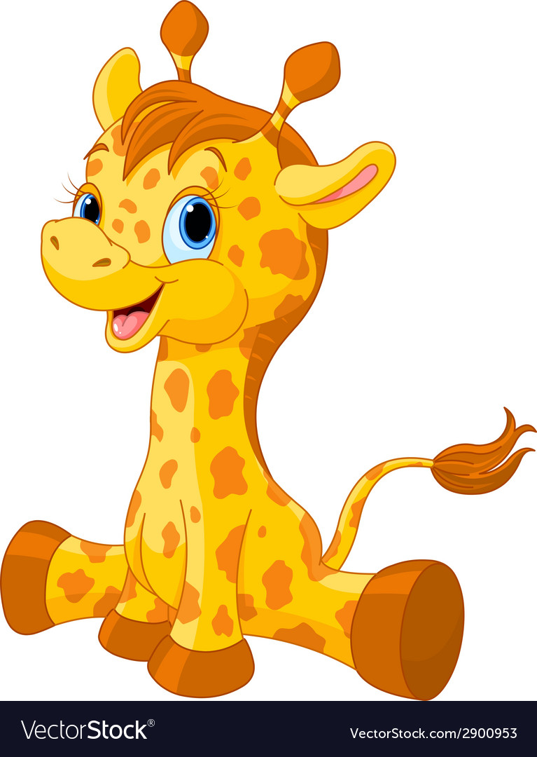 Cute giraffe calf vector | Price: 1 Credit (USD $1)