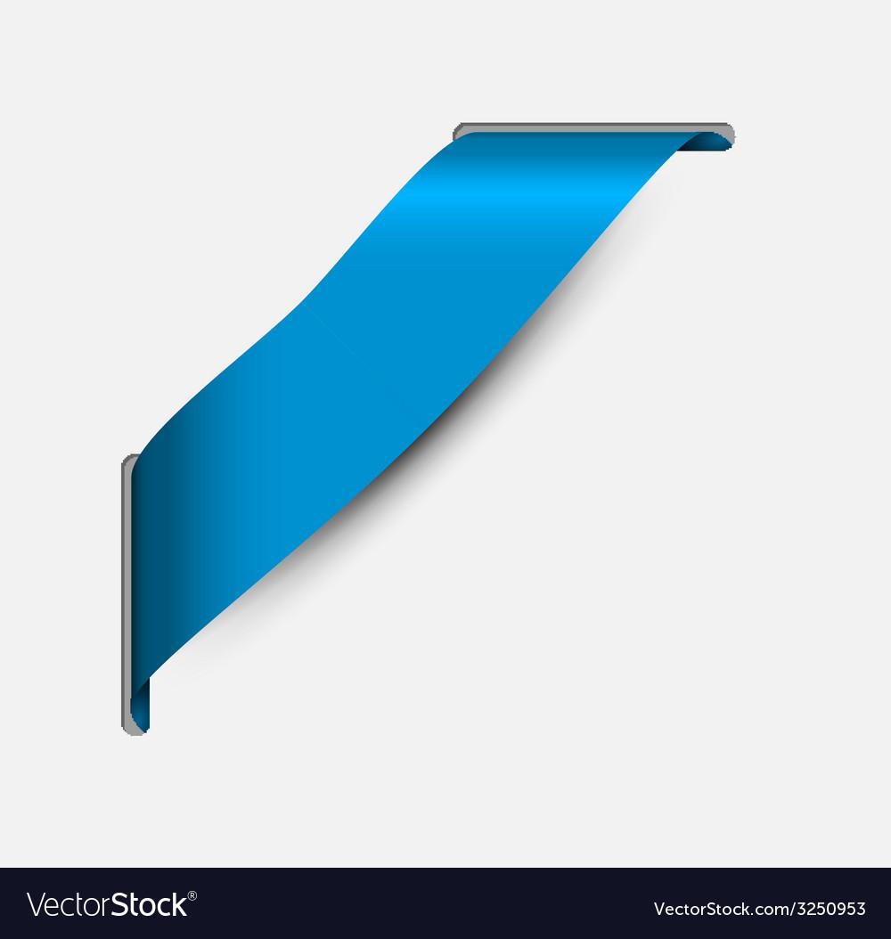 Empty blue corner ribbon vector | Price: 1 Credit (USD $1)