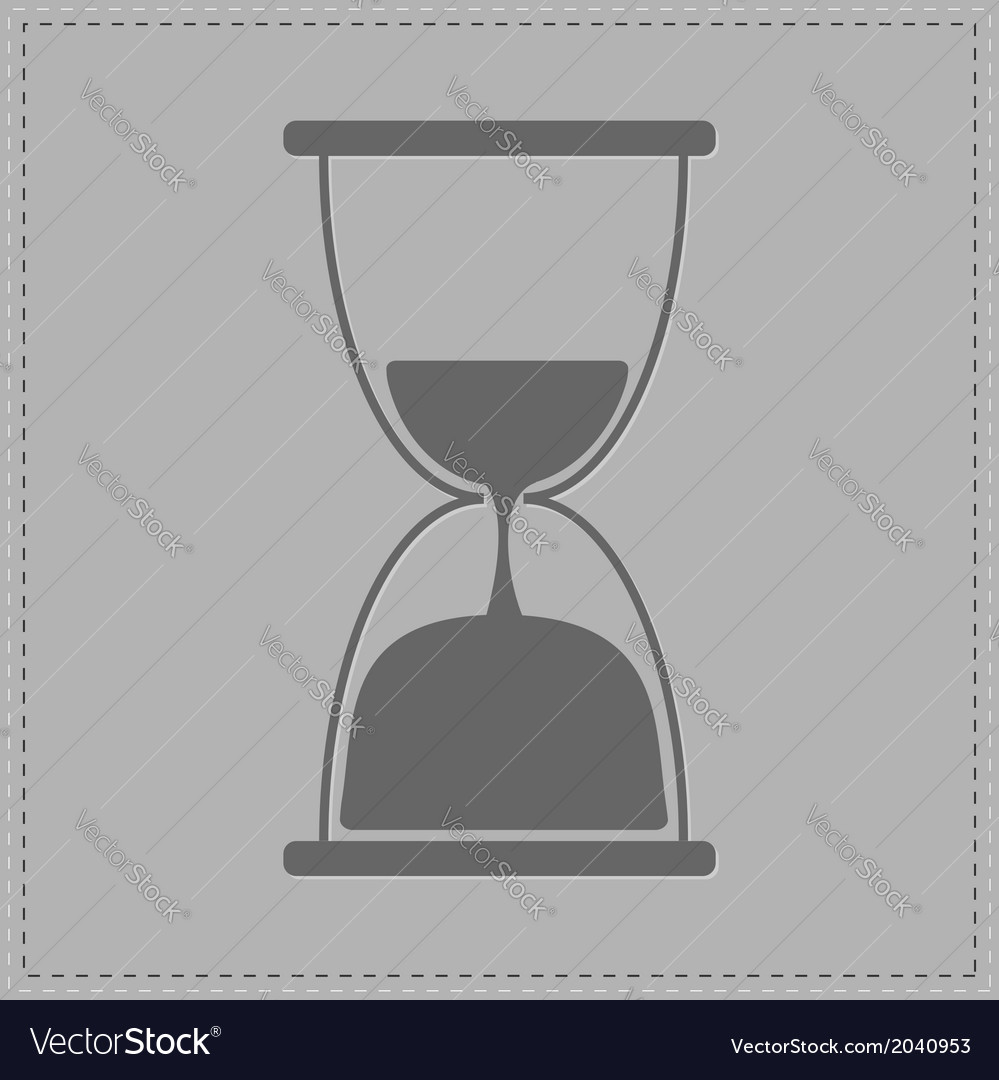 Grey hourglass with sand inside card vector | Price: 1 Credit (USD $1)