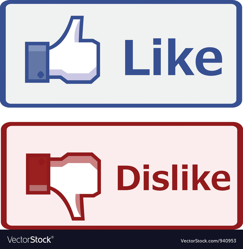 Like and dislike button vector | Price: 1 Credit (USD $1)