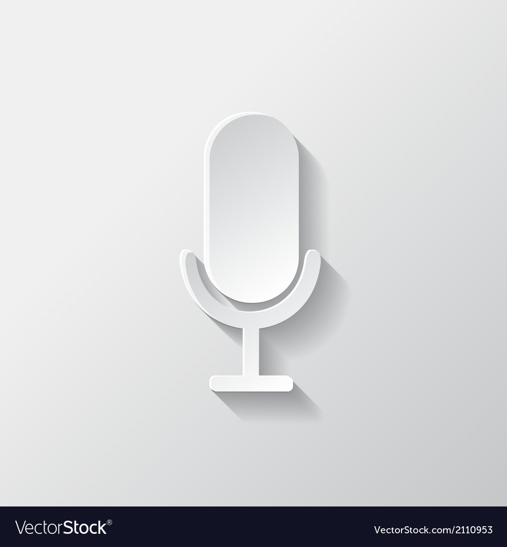 Microphone icon sound recording vector | Price: 1 Credit (USD $1)