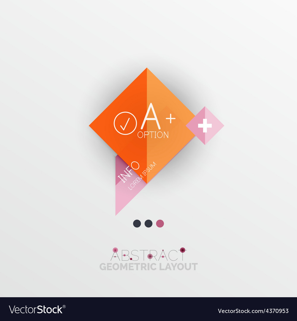 Modern abstract geometric info banner vector | Price: 1 Credit (USD $1)
