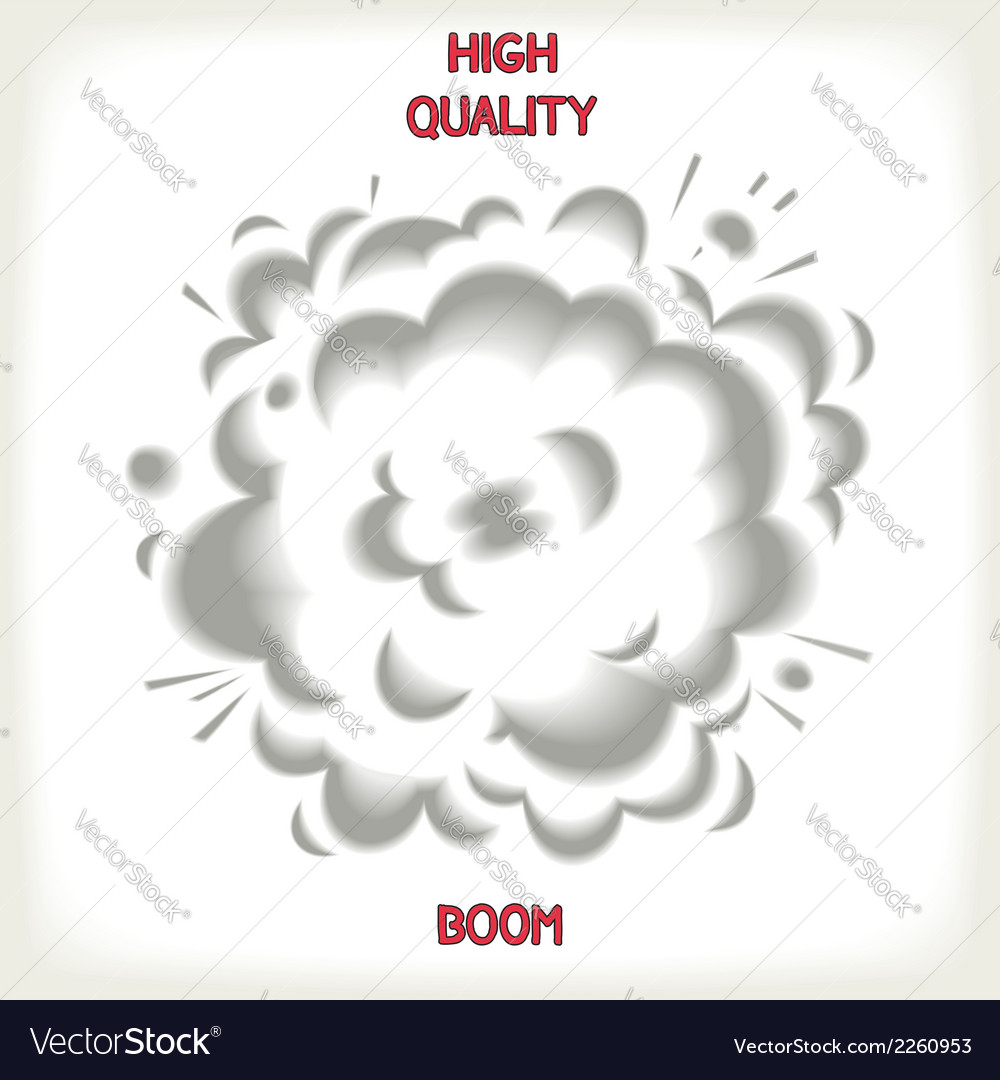 Realistic puffs of smoke vector | Price: 1 Credit (USD $1)