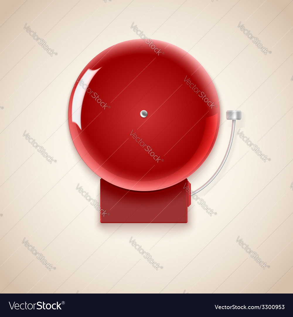 Red school bell vector | Price: 1 Credit (USD $1)