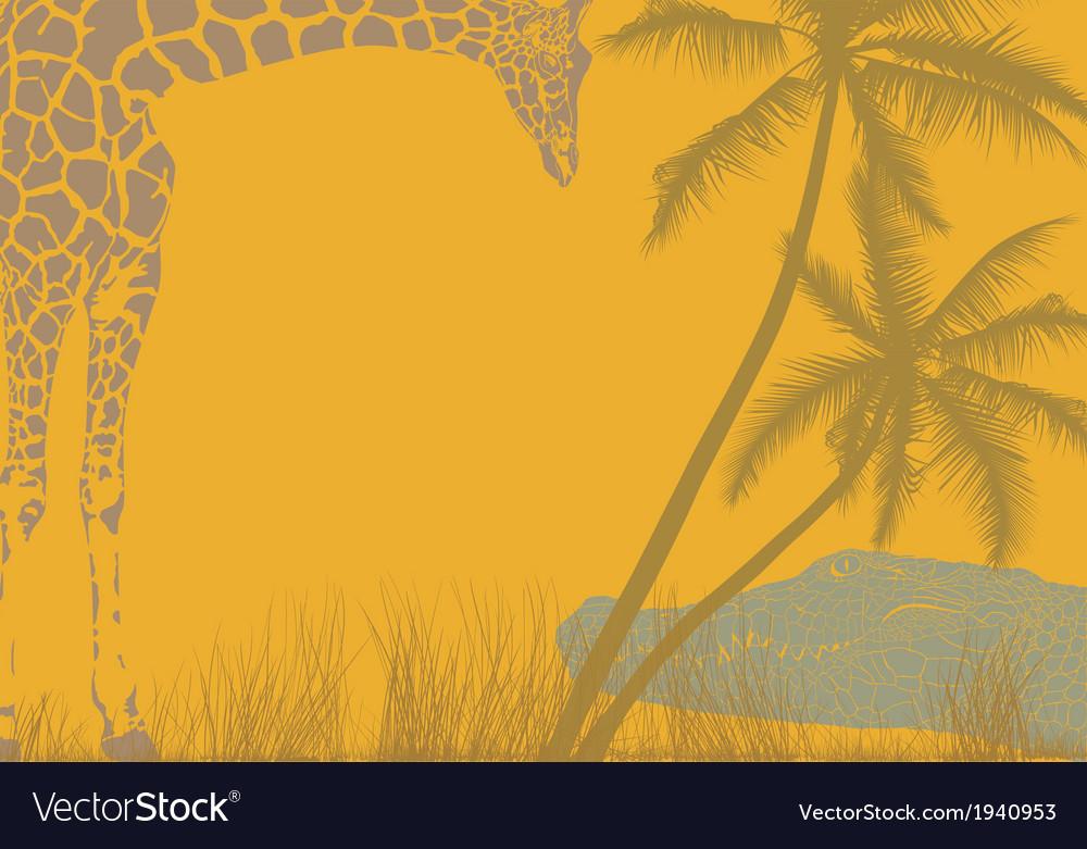 Safari animal background vector | Price: 1 Credit (USD $1)