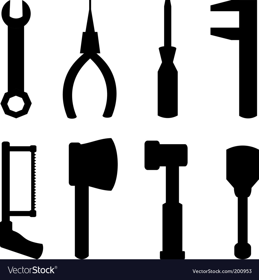Simple tools vector | Price: 1 Credit (USD $1)