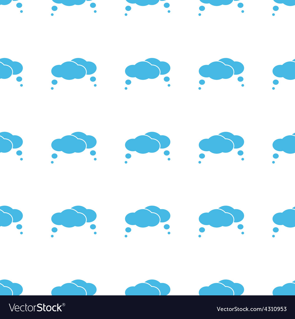Unique clouds seamless pattern vector | Price: 1 Credit (USD $1)