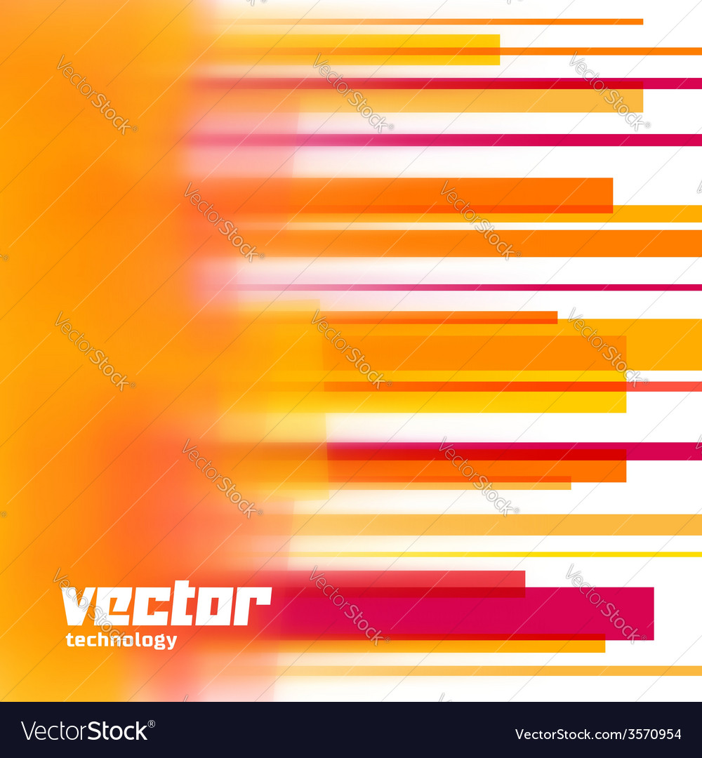 Background with orange blurred lines vector | Price: 1 Credit (USD $1)