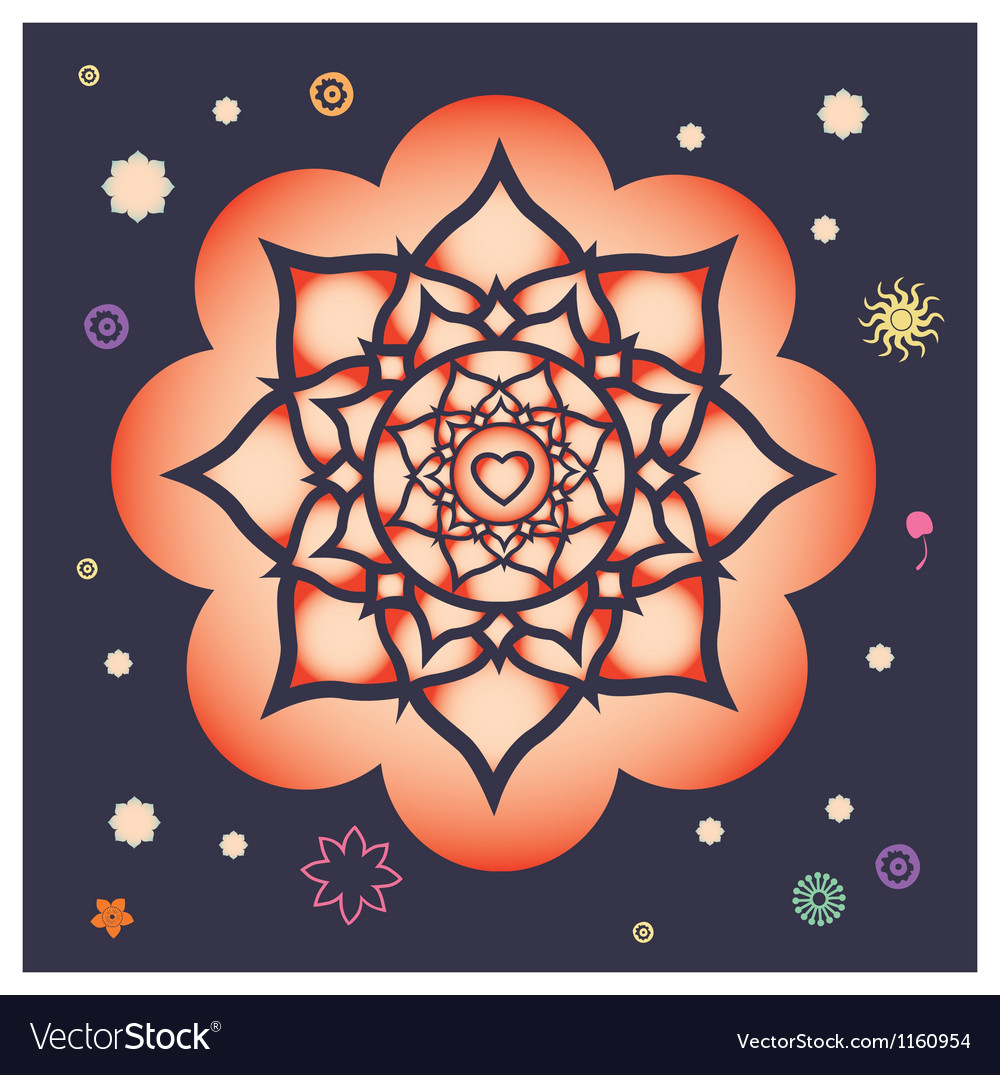 Beginning of spring power mandala vector | Price: 1 Credit (USD $1)