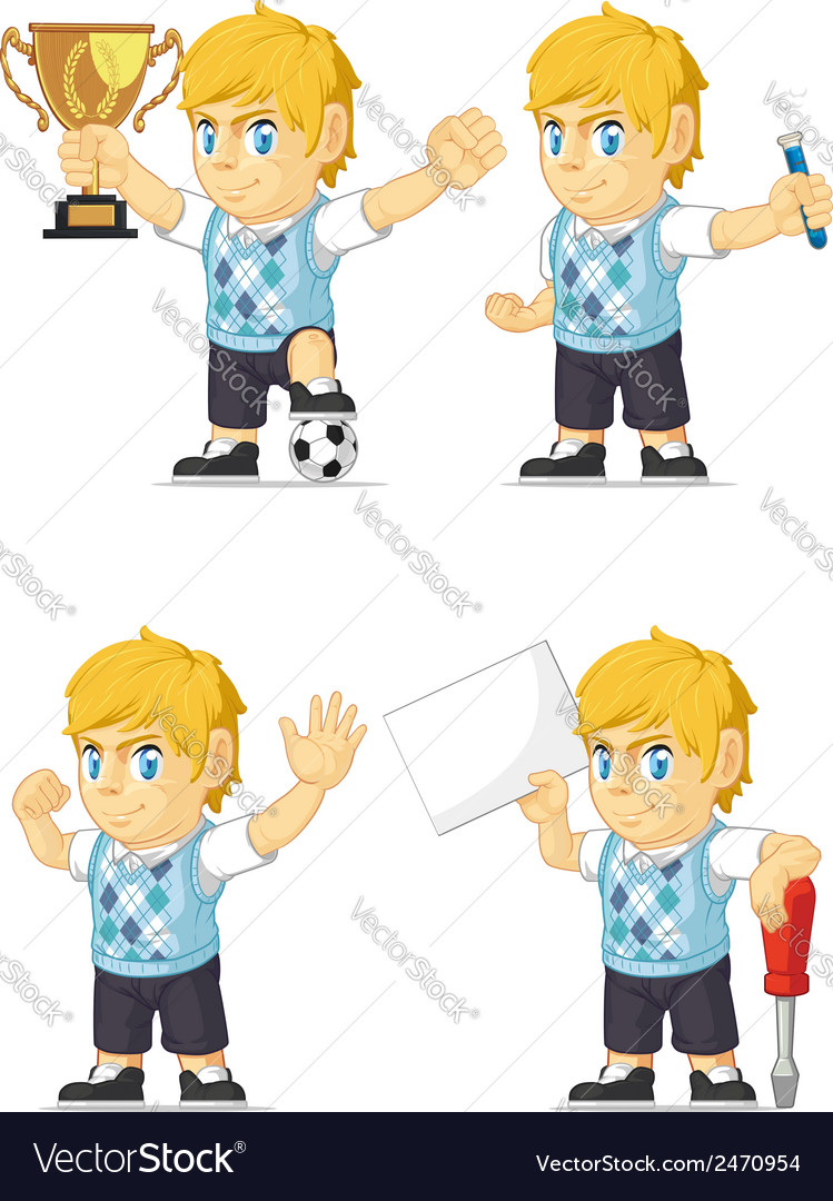 Blonde rich boy customizable mascot 19 vector | Price: 1 Credit (USD $1)