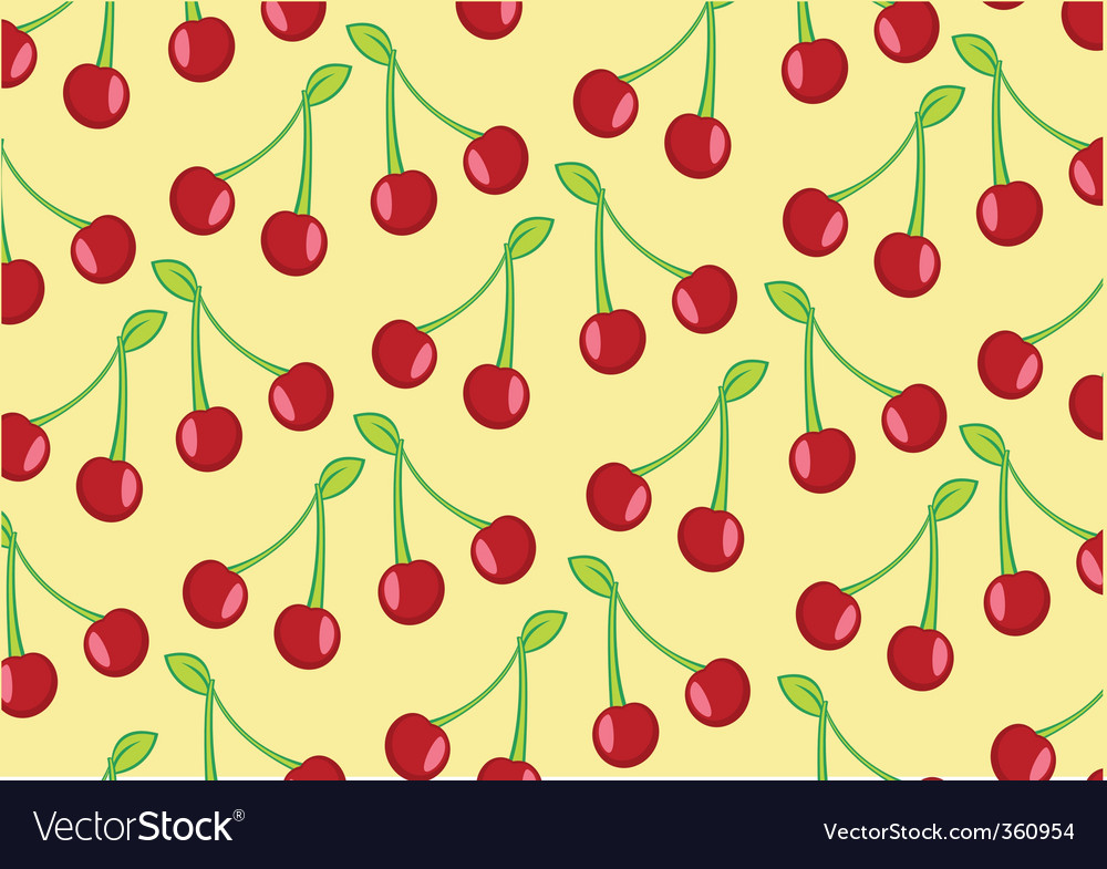 Cherry background vector | Price: 1 Credit (USD $1)