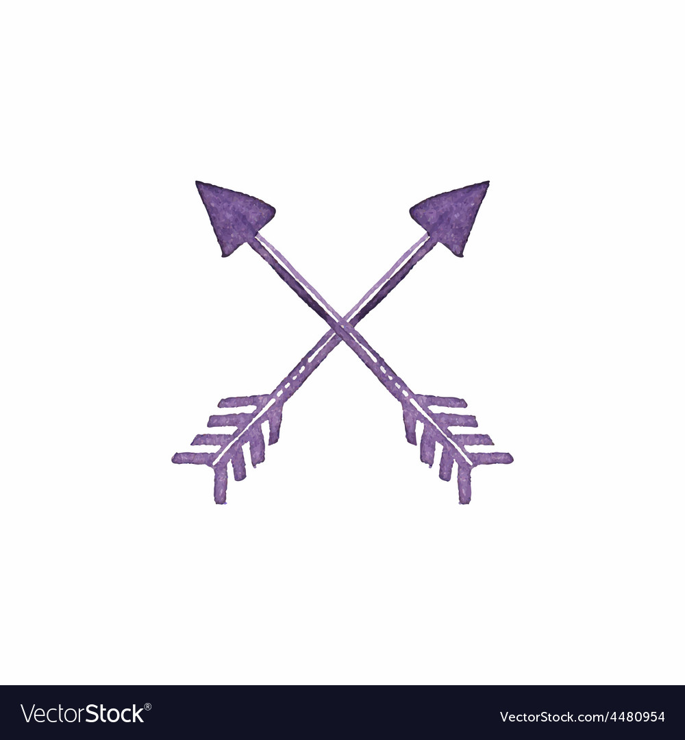 Crossed arrows native american indian arrow vector | Price: 1 Credit (USD $1)