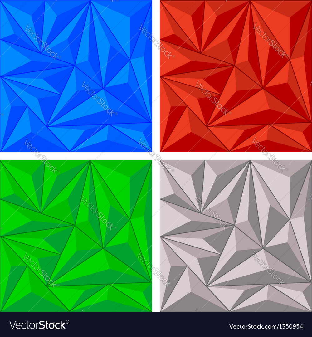 Crystal triangle background set vector | Price: 1 Credit (USD $1)