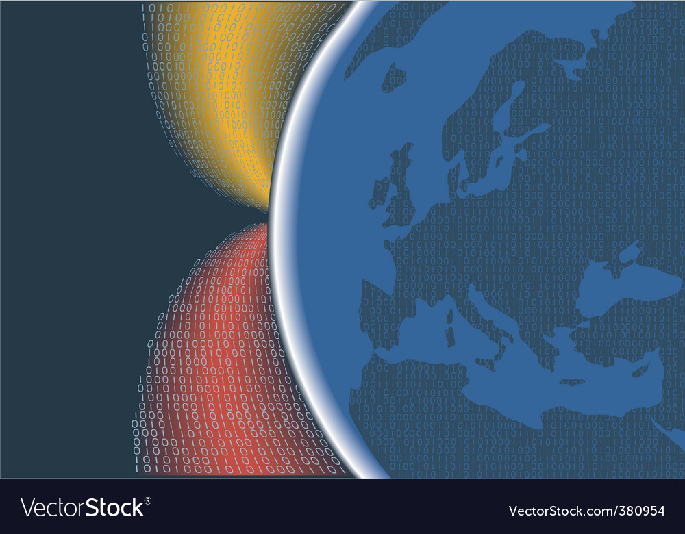 Digital planet europe vector | Price: 1 Credit (USD $1)