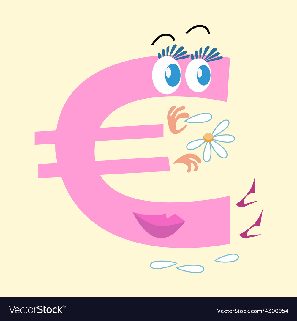 Euro sign national currency europe vector | Price: 1 Credit (USD $1)