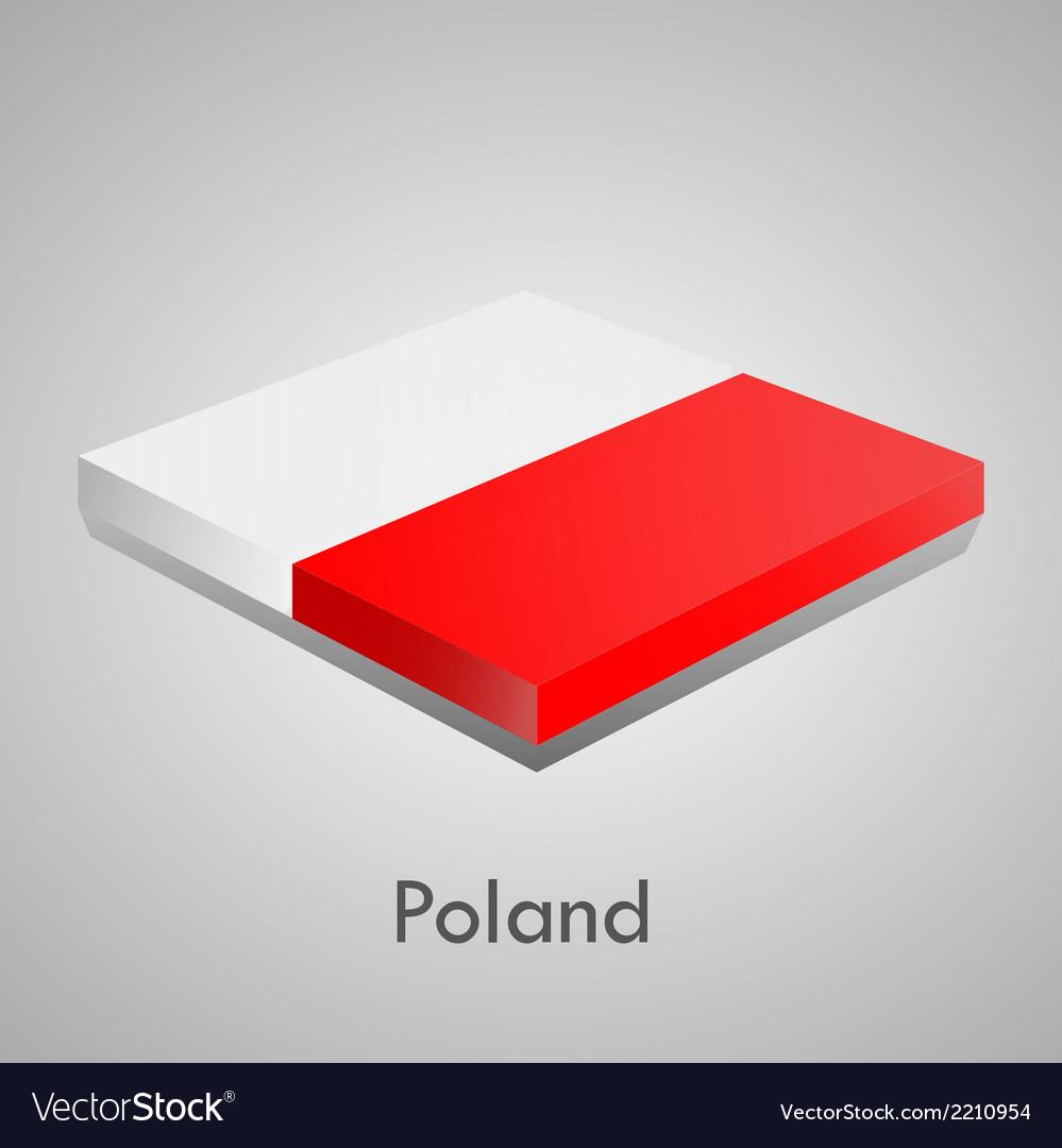European flags set - poland vector | Price: 1 Credit (USD $1)