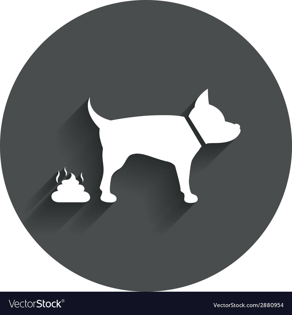 Feces sign icon clean up after pets symbol vector   Price: 1 Credit (USD $1)