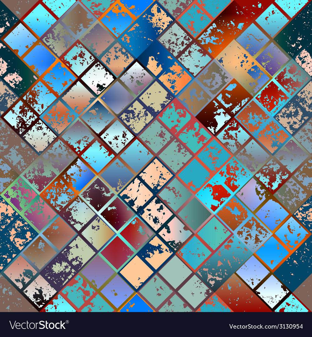 Grunge diagonal mosaic vector | Price: 1 Credit (USD $1)
