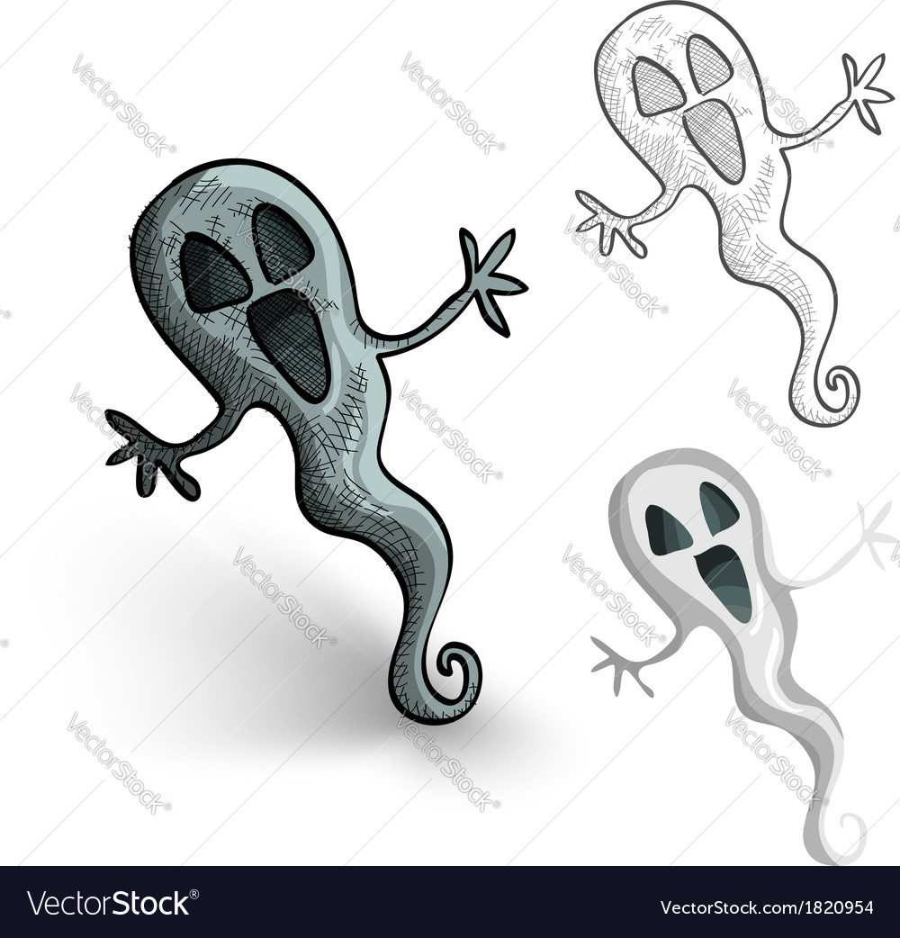 Halloween monsters isolated spooky ghosts set vector | Price: 1 Credit (USD $1)