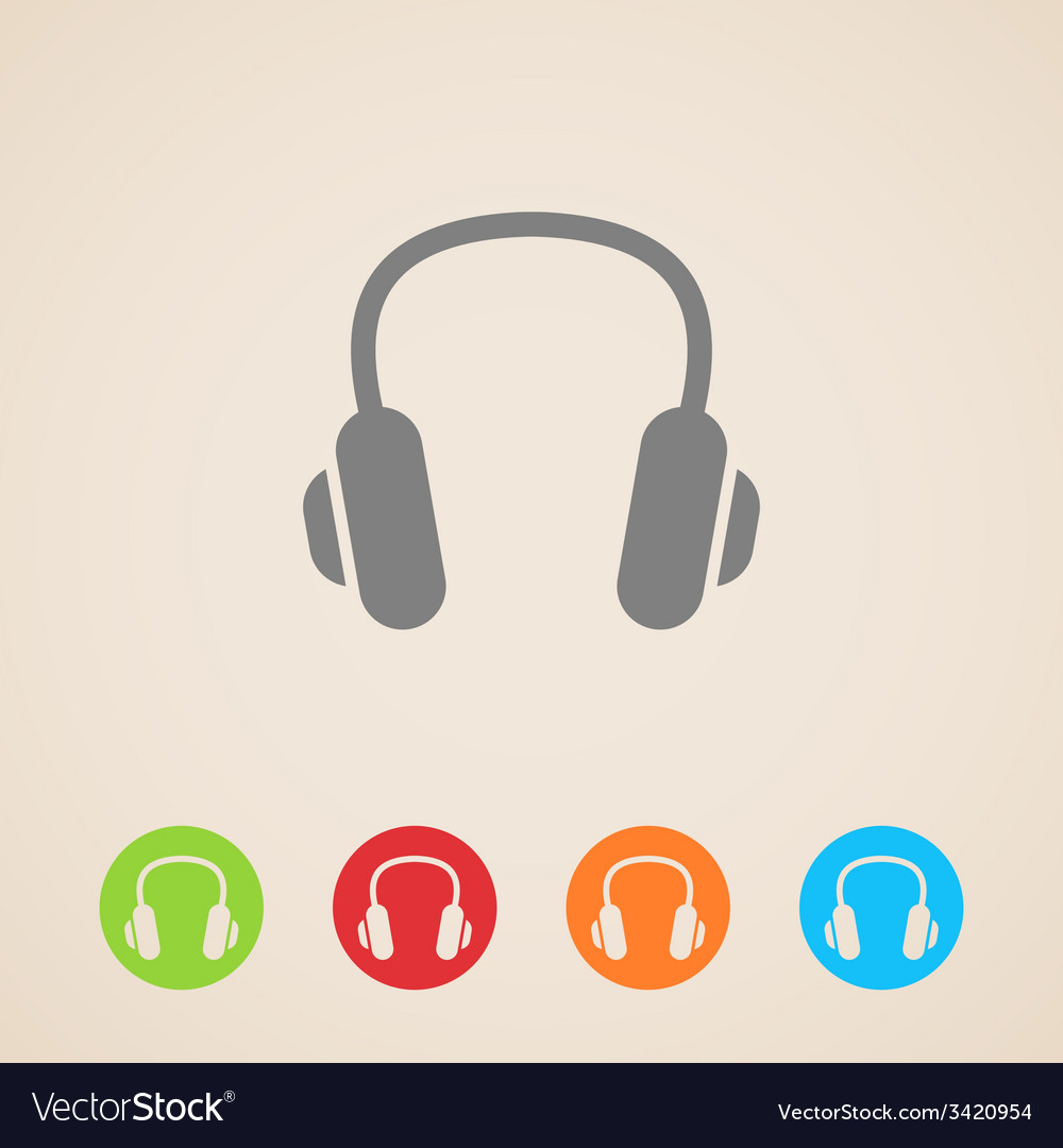 Headphones icons vector | Price: 1 Credit (USD $1)