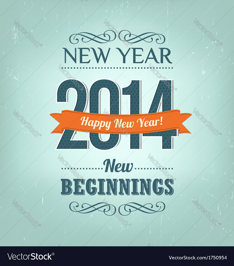 New year 2014 design vector | Price: 1 Credit (USD $1)
