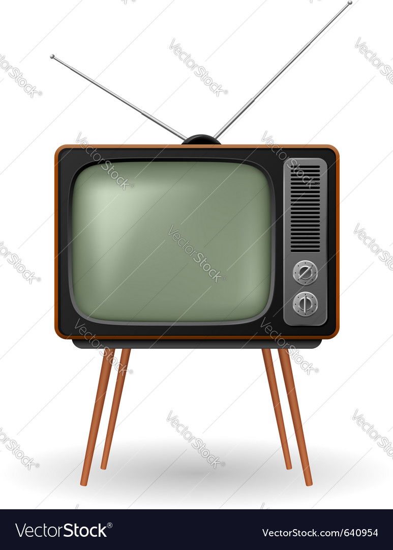 Old fashioned retro tv vector | Price: 1 Credit (USD $1)