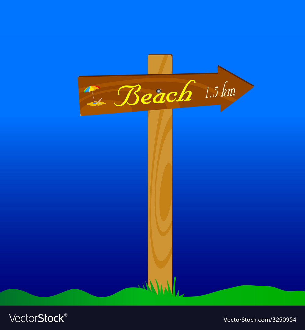 Signboard for the beach vector | Price: 1 Credit (USD $1)